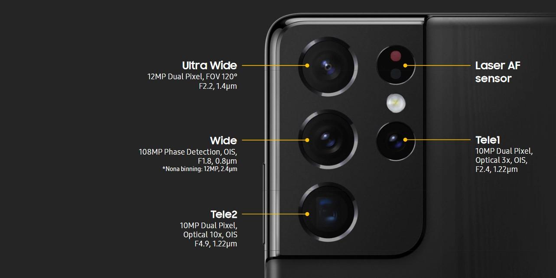 كاميرا هاتف Galaxy S21 Ultra