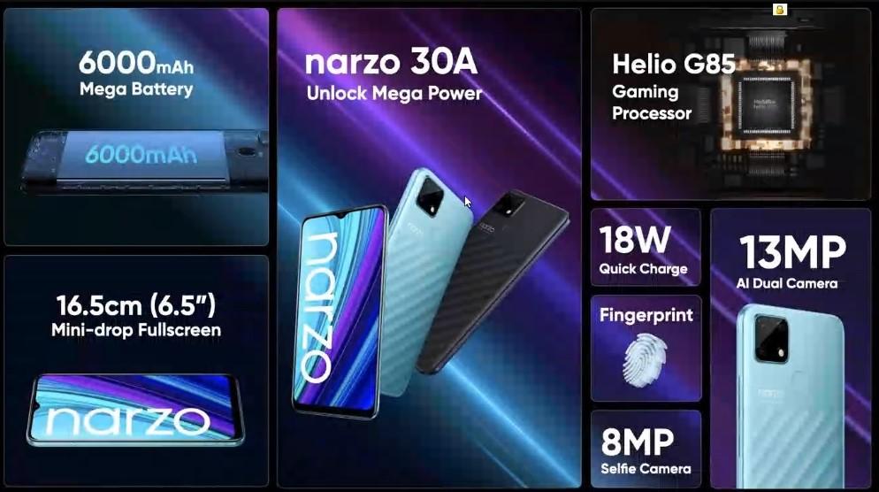 هاتف Realme Narzo 30A